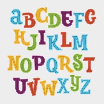 Симпатичный красочный английский алфавит