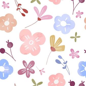 かわいい色とりどりの花