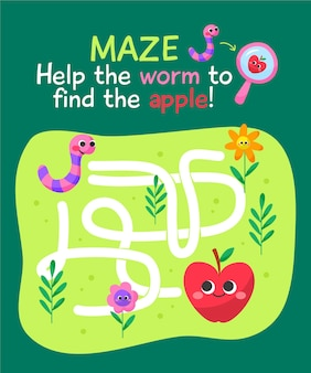 Cute colorful maze for kids