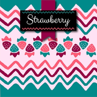Cute colorful strawberry pattern background