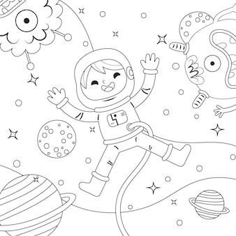Симпатичный дизайн раскраски для детей