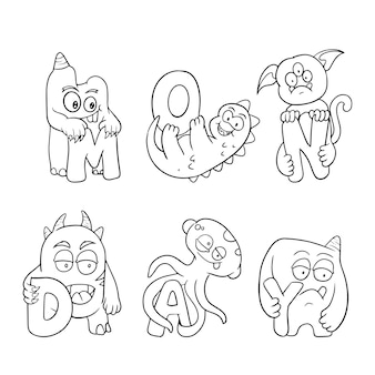 Симпатичные раскраски для детей с коллекцией монстров