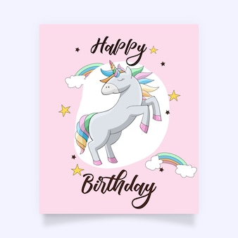 A cute colourful unicorn with lovely accessories