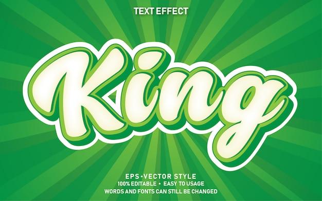 Редактируемый текстовый эффект cute comic king