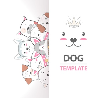 Cute, cool, pretty, funny, crazy, beautiful dog template