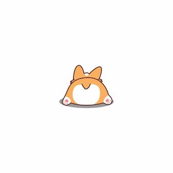 Cute corgi butt cartoon