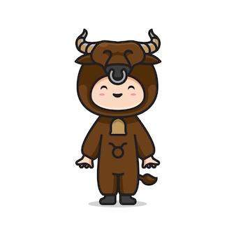 Cute costume zodiac taurus