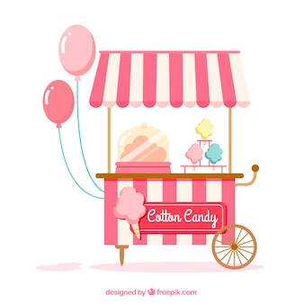 Cute cotton candy cart