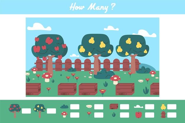 果物とかわいいカウントゲーム