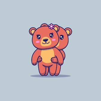 Cute couple bear