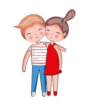 Cute couple cartoon