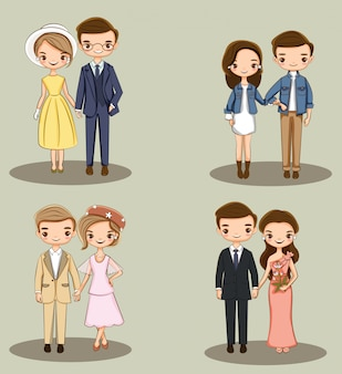 Cute couple character collection
