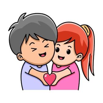 Милая пара, держащая любовь вместе