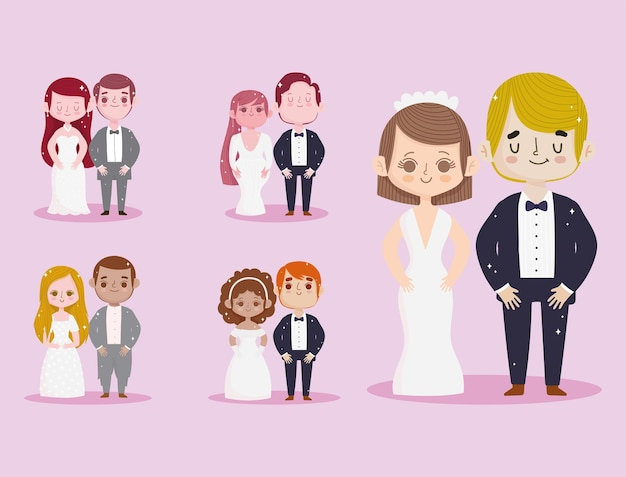 귀여운 커플 결혼식