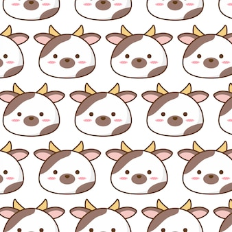Cute cow pattern with milik