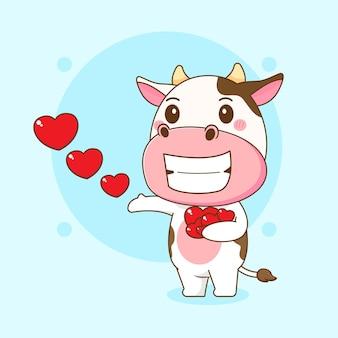 Симпатичная корова, делящаяся любовью
