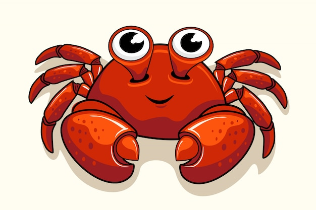 Cute crab cartoon animals