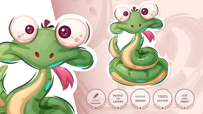 かわいいクレイジーヘビ