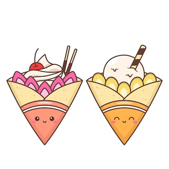 Cute crepes with various topping