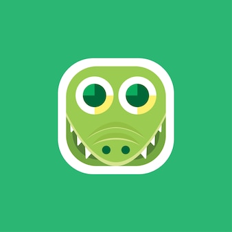 Cute crocodile app icons logo