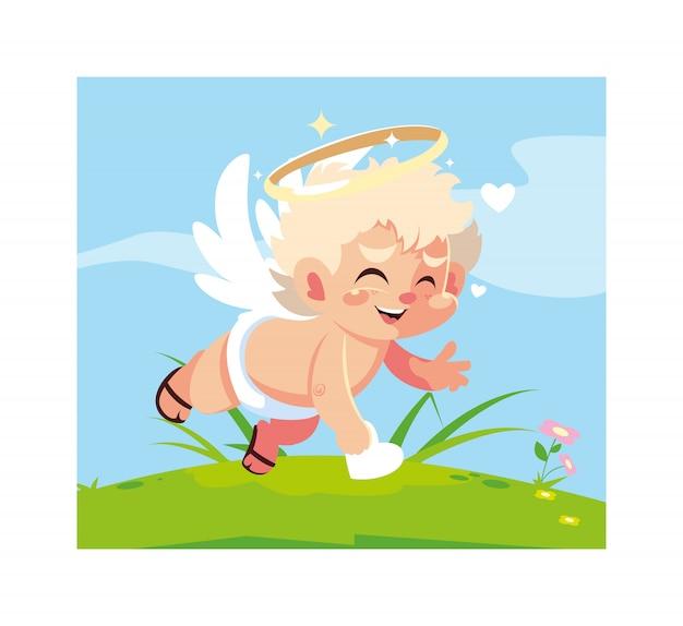 Милый ангел купидона, день святого валентина