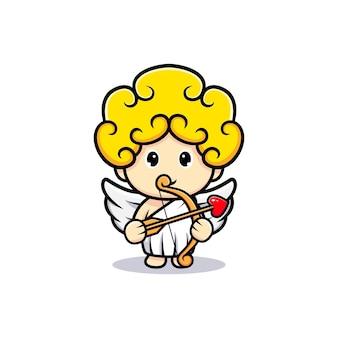 Cute cupid archery holding a arrow