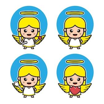 Cute cupid cartoon character