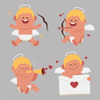 Cute cupid character pack