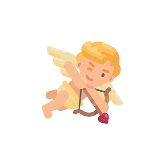 Cute cupid shooting a bow