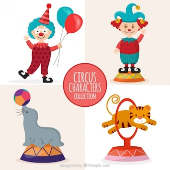 Cute curcus character collection
