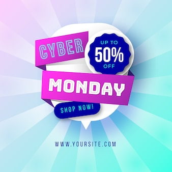 Cute cyber monday banner