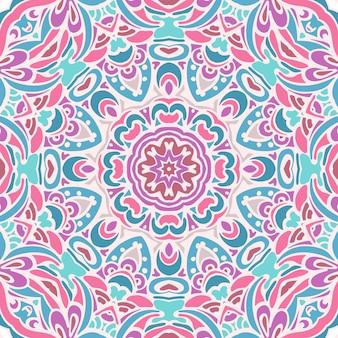 かわいいダマスク織ベクトルお祝いギフト包装飾りシームレスパターン