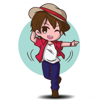 Cute dancer cartoon character