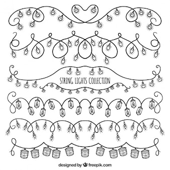 Cute decoration of hand drawn string lights