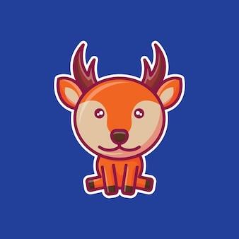 Cute deer chibi character