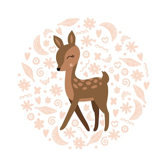 Cute deer illustration