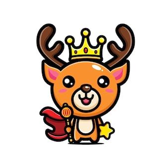 Cute deer king character design