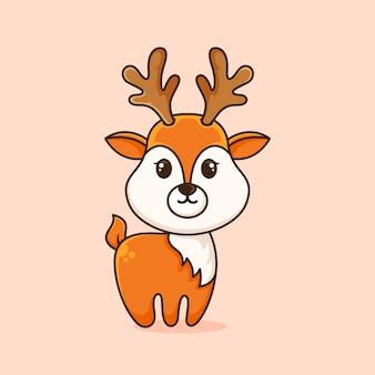 かわいい鹿のロゴデザインテンプレート