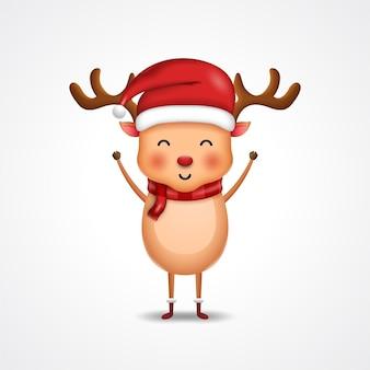 Cute deer for merry christmas illustration