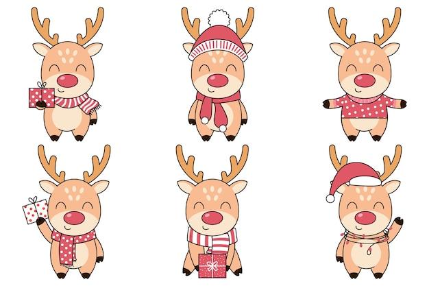 Рождественский набор милые олени.