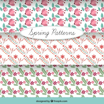귀여운 섬세한 꽃 패턴