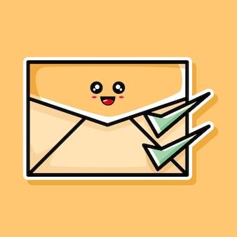 귀여운 배달 이메일 만화 디자인