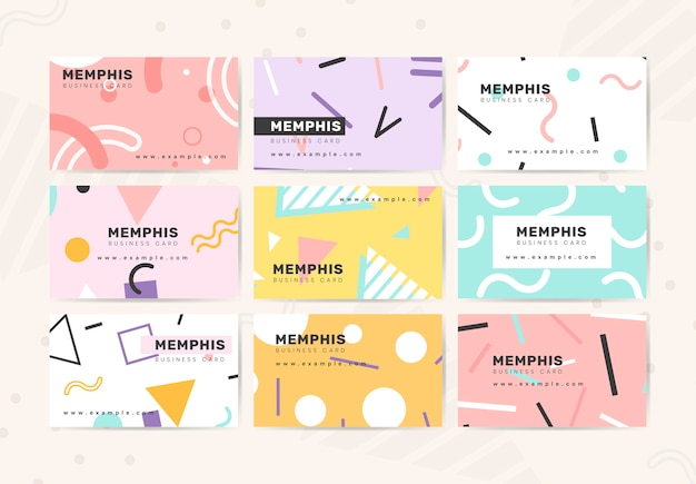 Cute design business card Free Vector