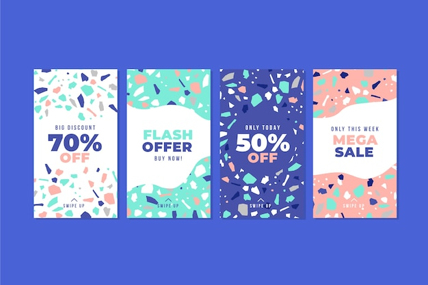 Cute design terrazzo hand drawn style sale posts instagram