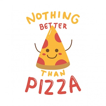 Cute design with cute pizza