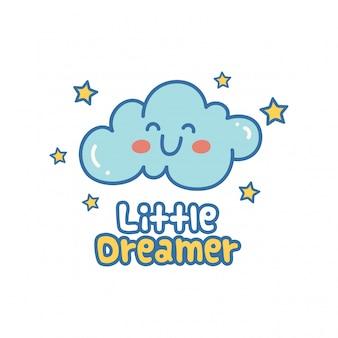 Cute design with kawaii cloud