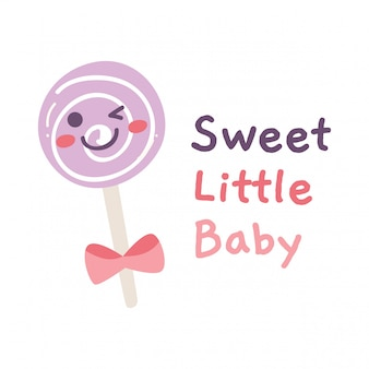 Cute design with lollipop