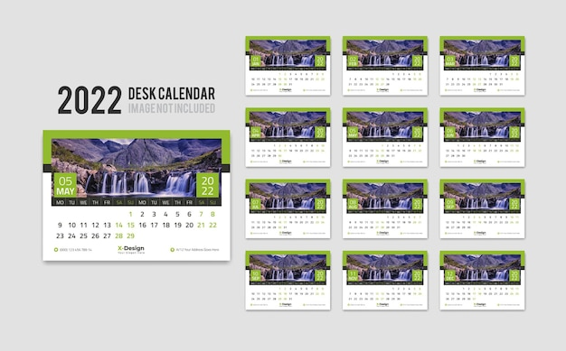 Cute desk calendar 2022