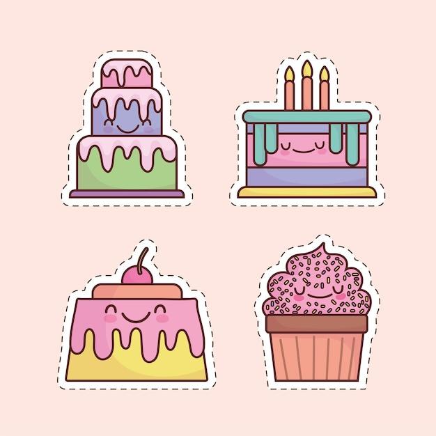 Милый мультфильм десерт