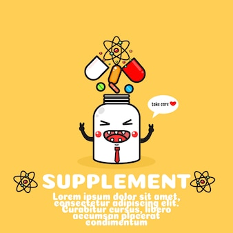 Cute dietary supplement cartoon